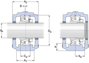 Immagine per la categoria SAF and SAW pillow blocks with bearings on an adapter sleeve