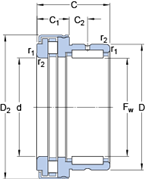Immagine per la categoria Cuscinetti a rullini / assiali a rulli