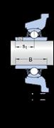 Immagine per la categoria Unità a sfere con supporto con flangia quadrata per alte temperature