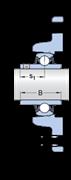 Immagine per la categoria Unità a sfere con supporto con flangia ovale per alte temperature